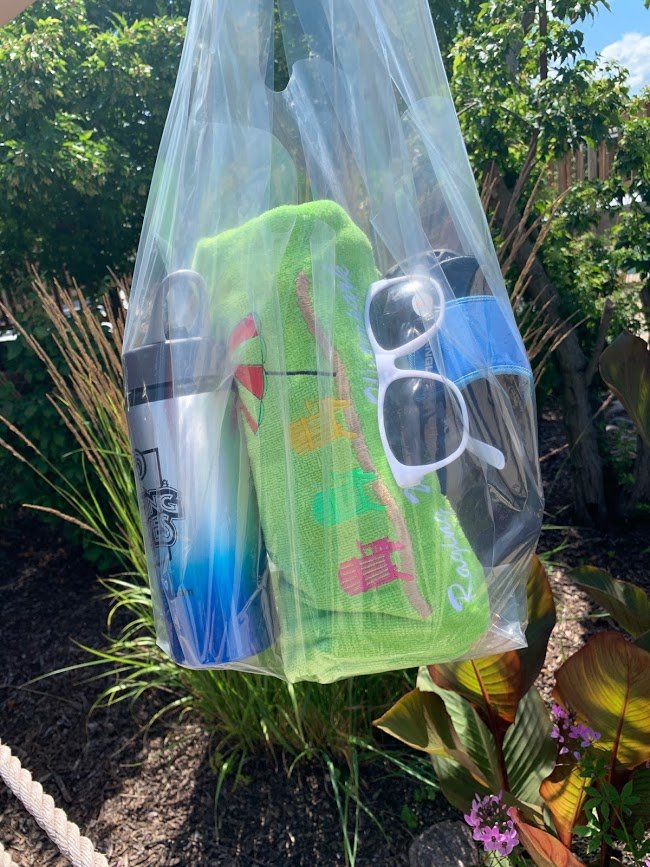 clear bag with items